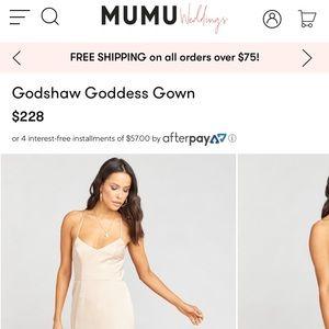 Godshaw Goddess Gown- bridesmaids dress/maxi gown